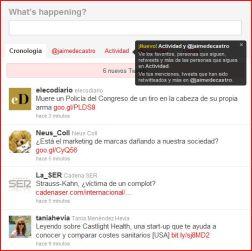 Cambios en la cuenta de Twitter de Jaime de Castro.