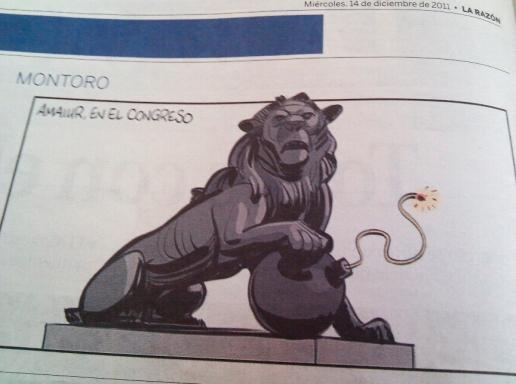 Viñeta de La Razón sobre Amaiur en el Congreso de los Diputados.