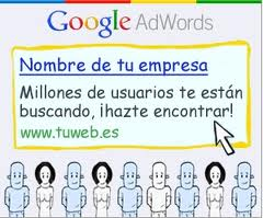 Anuncio de Google Adwords.