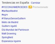 #yoconunmercedes Twitter Ads.