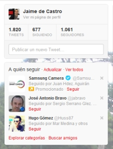 Ejemplo de promoted account en Twitter.